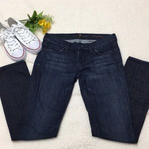7 for all mankind straight leg jeans 26 EUC